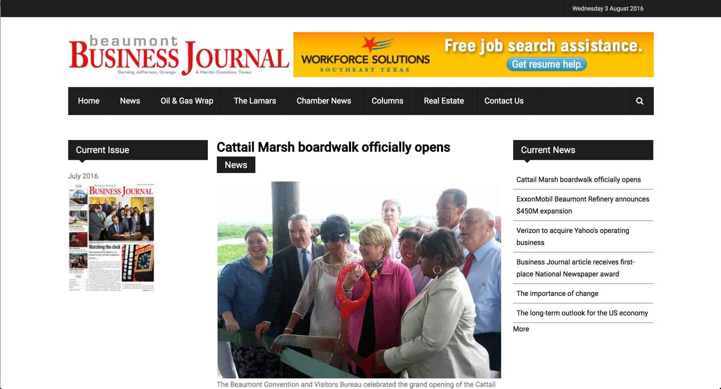 Thumbnail for Beaumont Business Journal